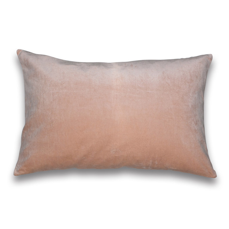 Cushion Velour Design Aspegren Solid Misty Rose