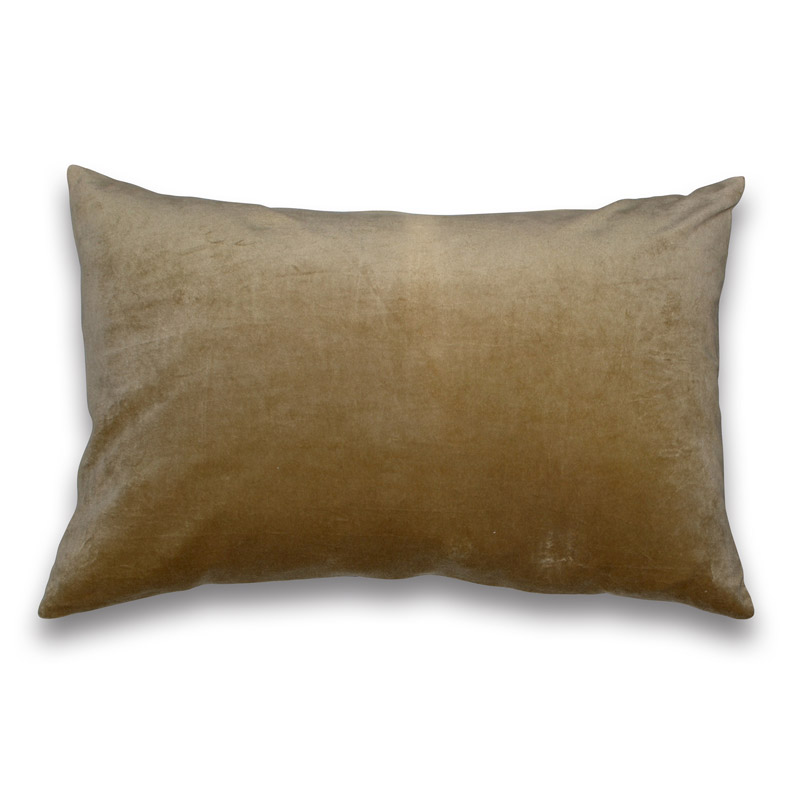 Cushion Velour Design Aspegren Solid Golden Mist