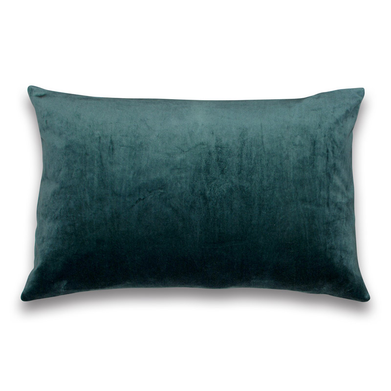 Cushion Velour Design Aspegren Solid Silver Pine