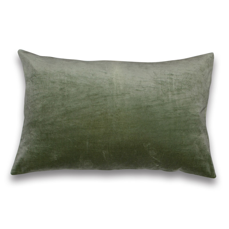 Cushion Velour Design Aspegren Solid Tea Green