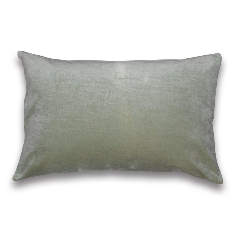 Cushion Velour Design Aspegren Solid Tint Green