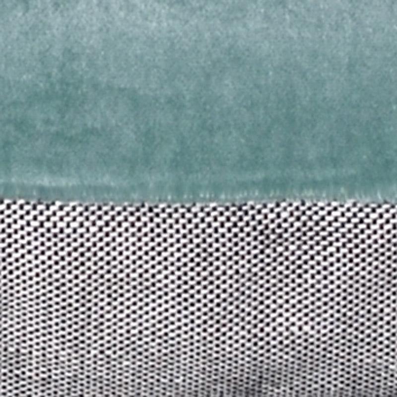Pude Velour Design Aspegren Solid Mineral Blue