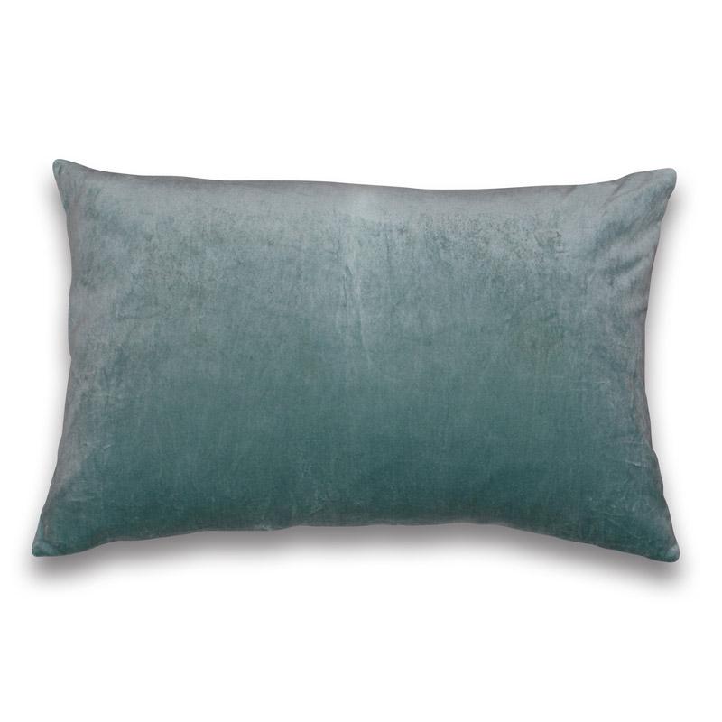 Cushion Velour Design Aspegren Solid Mineral Blue