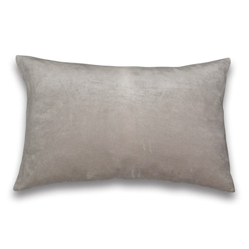 Pude Velour Design Aspegren Solid Dove Gray