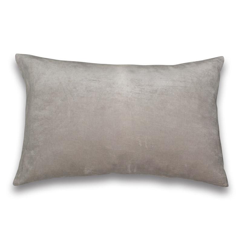 Cushion Velour Design Aspegren Solid Dove Gray