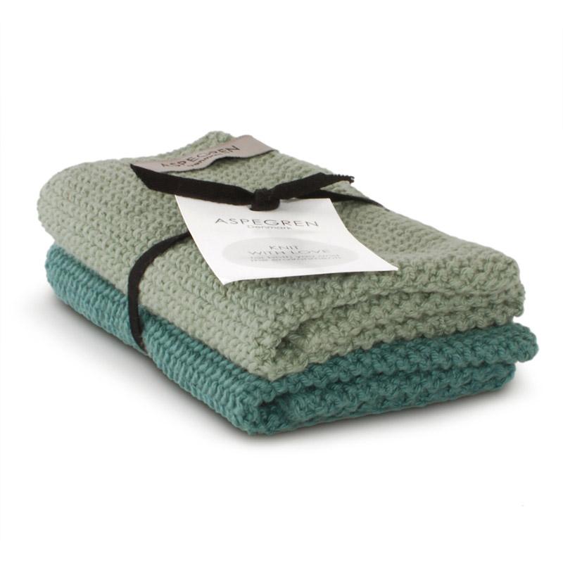Dishcloth Knitted Design Aspegren Solid Mint