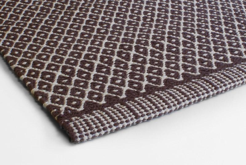 Gulvtæppe Design Aspegren Rhombe Brown 70x130