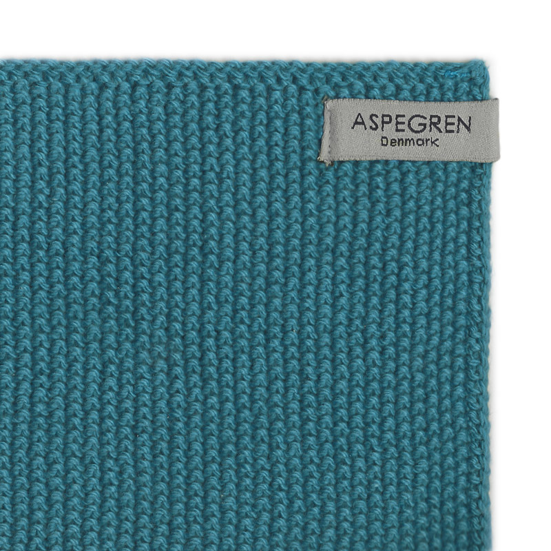 Aspegren-dishcloth-knitted-solid-turquoise-3354-closeup-2-web