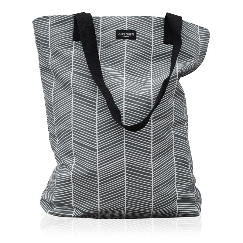 Einkaufstaschen Design Aspegren Herringbone Dark Gray