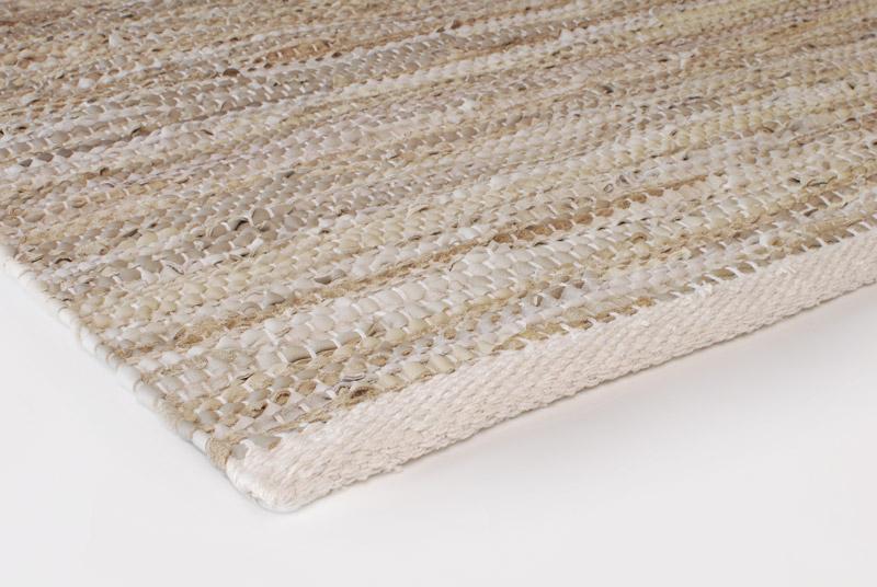 Gulvløber Leather Design Aspegren Solid Sand 70x130