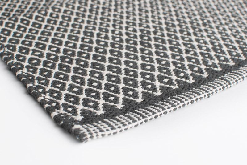 Gulvtæppe Design Aspegren Rhombe Dark Gray 140x200