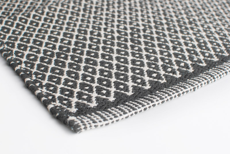 Gulvløber Design Aspegren Rhombe Dark Gray 70x130