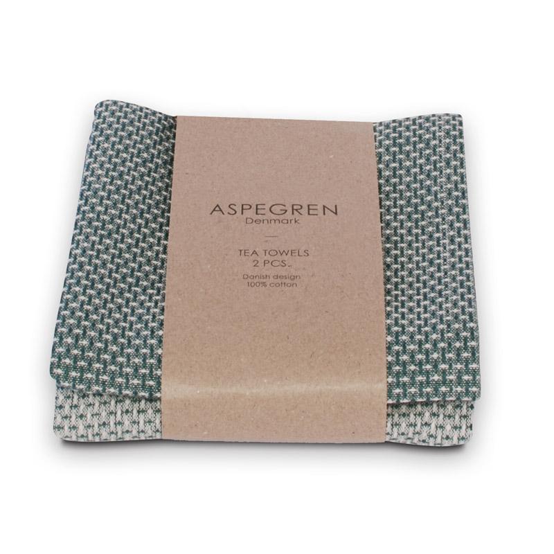 Viskestykker Design Aspegren Waffle Agate Green