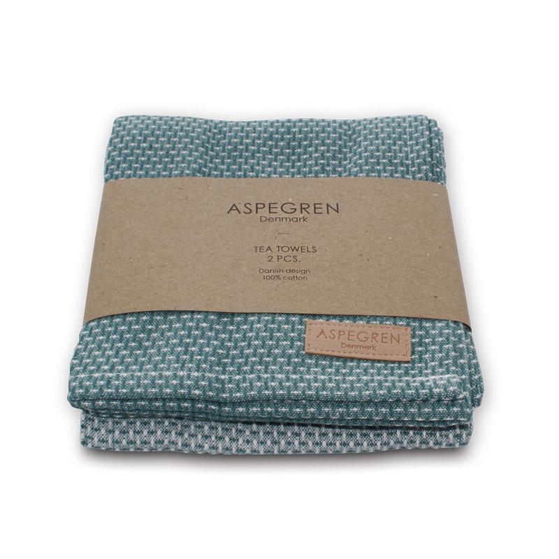 Tea Towel Design Aspegren Waffle Agate Green