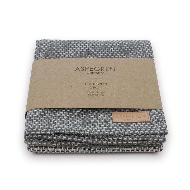 Tea Towel Design Aspegren Waffle Dark Gray