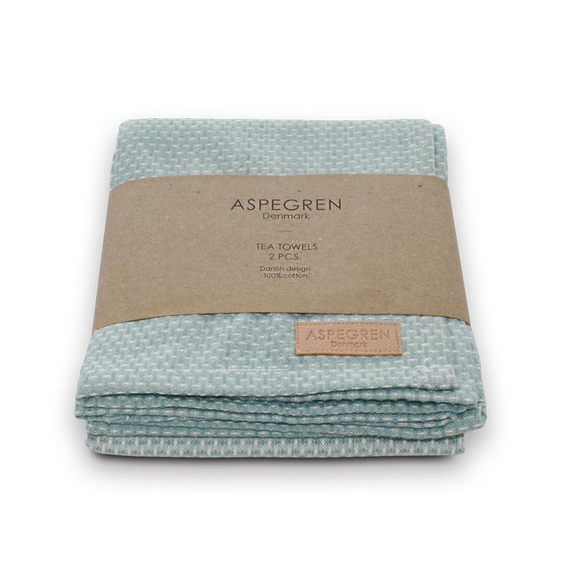 Tea Towel Design Aspegren Waffle Dusk Blue