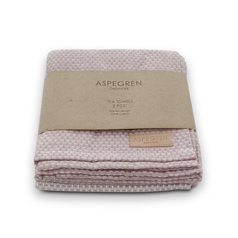 Tea Towel Design Aspegren Waffle Wood Rose