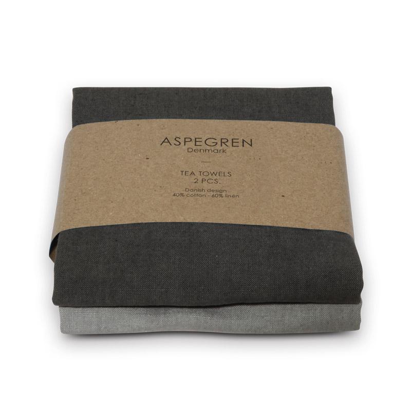 Tea Towel Design Aspegren Solid Gray
