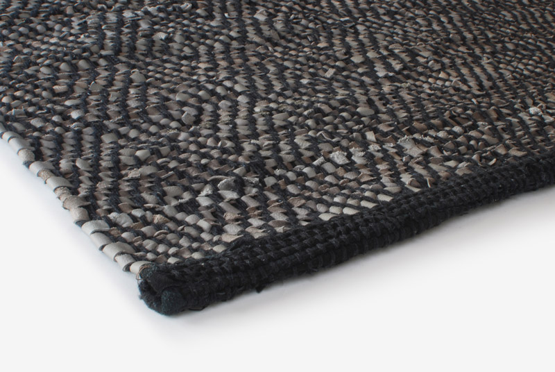 Leather Rugs Design Aspegren Chia Gray