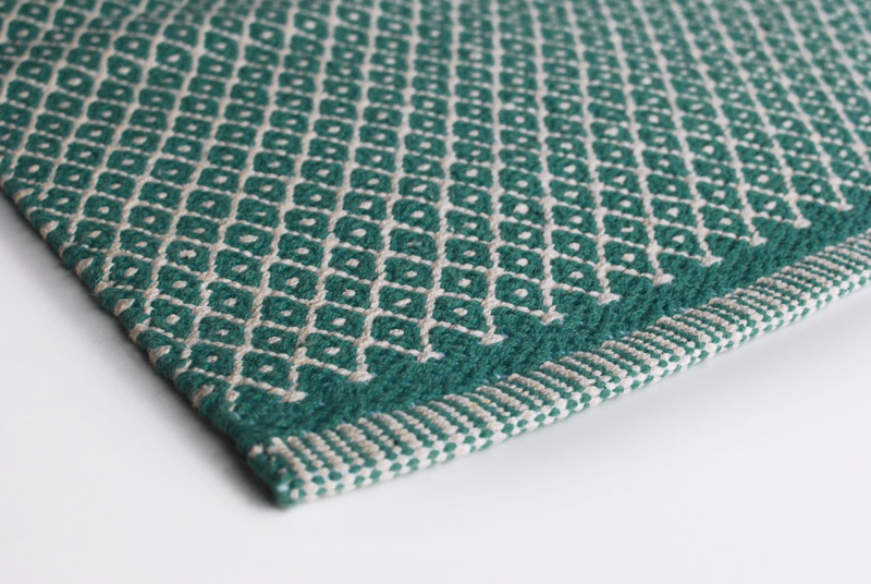Gulvløber Design Rhombe Ocean Green