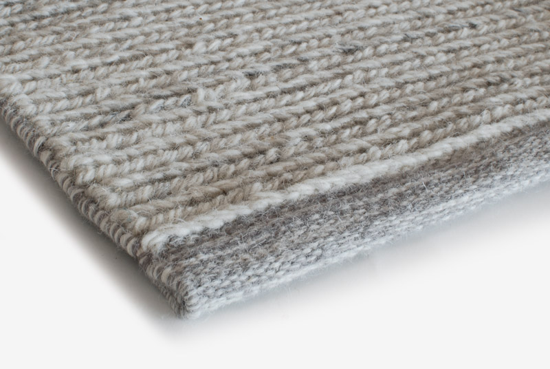 Teppich Wool Design Aspegren Braid Gray