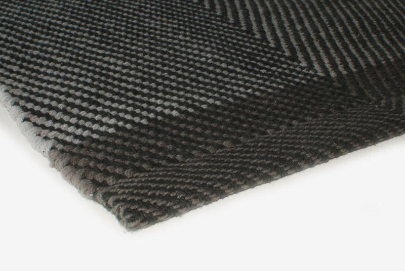 Teppich Design Aspegren Herringbone Blackmix
