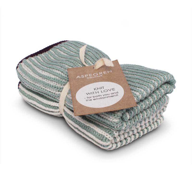 Dishcloth Knitted Design Aspegren Lamella Cloud Blue