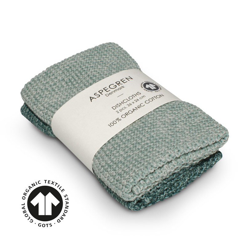Dishcloth Knitted Design Aspegren Blend Seagreen