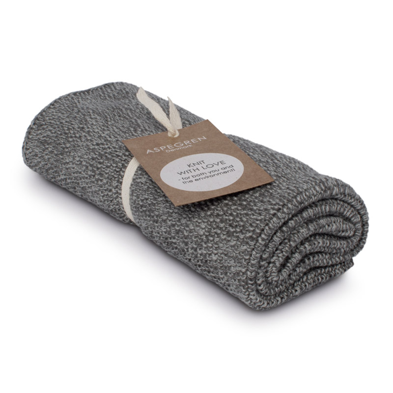 Handtuch Gestricktes Design Aspegren Blend Gray Dark