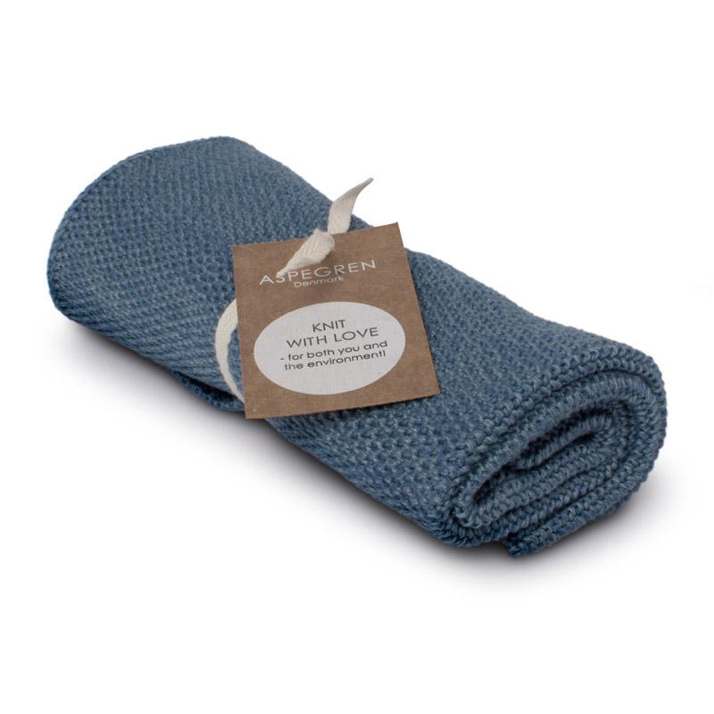 Handtuch Gestricktes Design Aspegren Blend Blue Dark