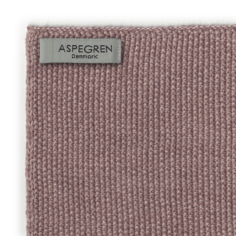 Aspegren-kitchentowel-knitted-blend-mauve-dark-3564-closeup-web