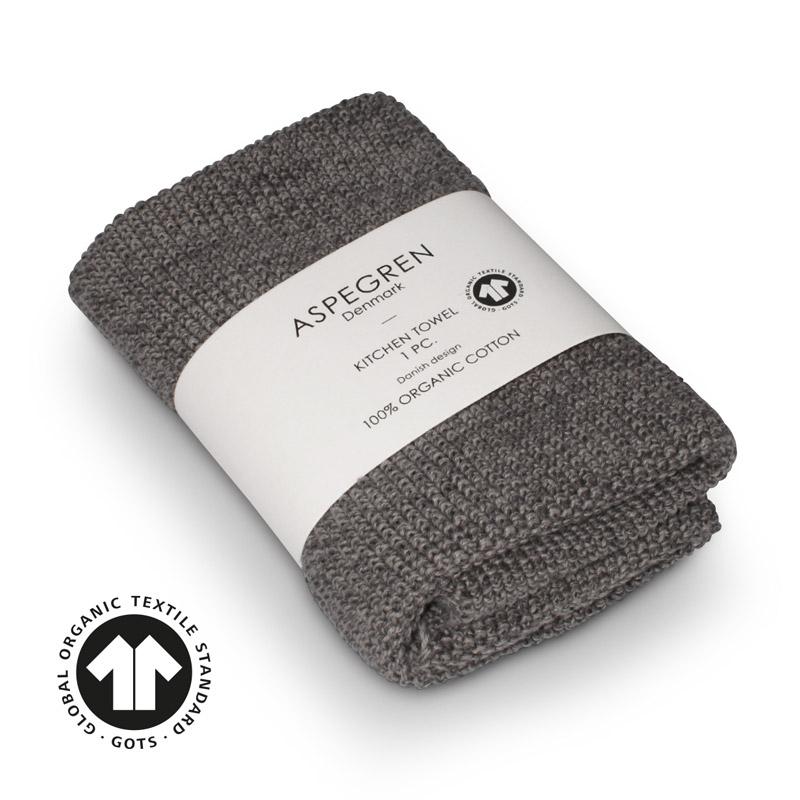Kichen Towel Design Aspegren Blend Gray Dark