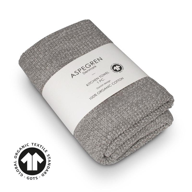 Handtuch Gestricktes Design Aspegren Blend Gray Light