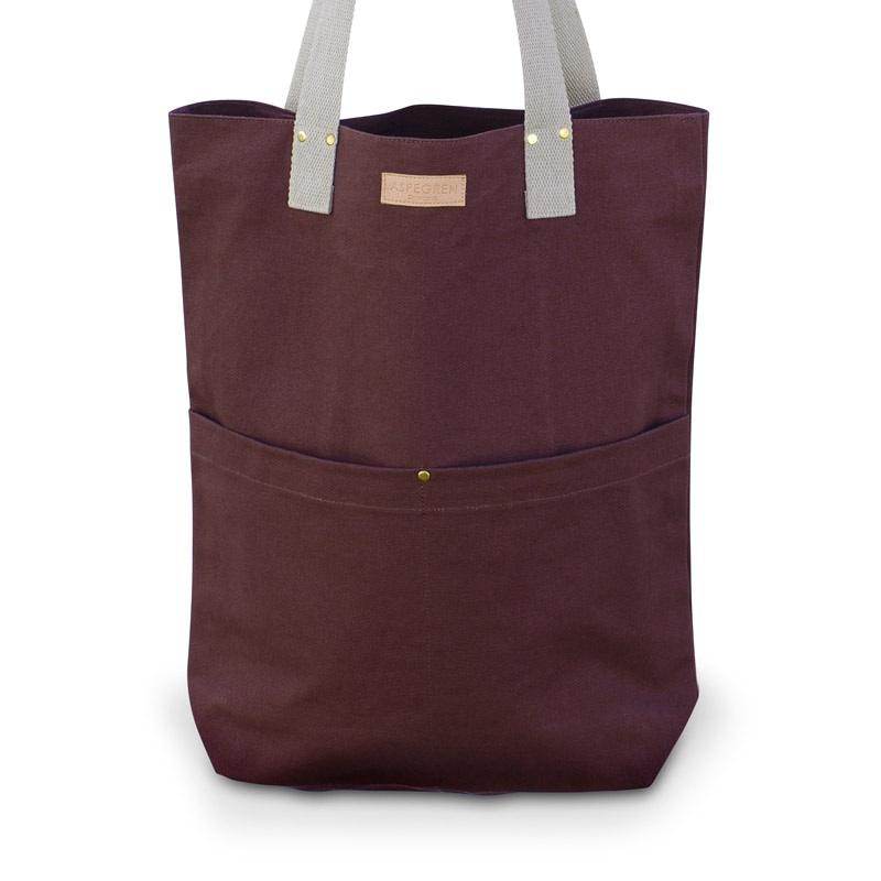 Canvas Bag Design Aspegren Mano Dark Wine