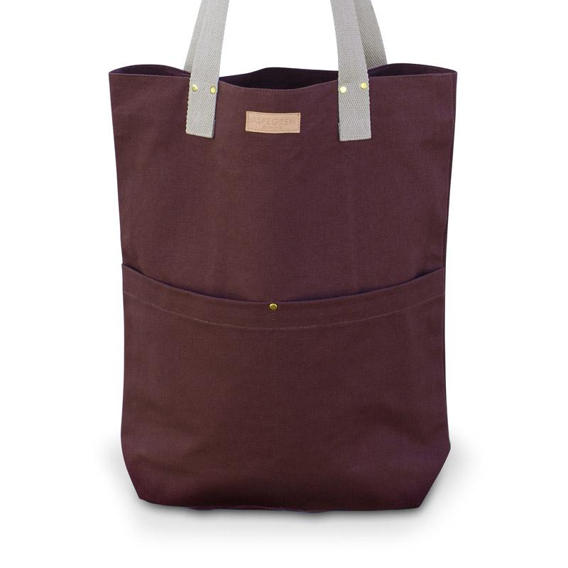 Canvas Bag Design Aspegren Mano Dark Wine