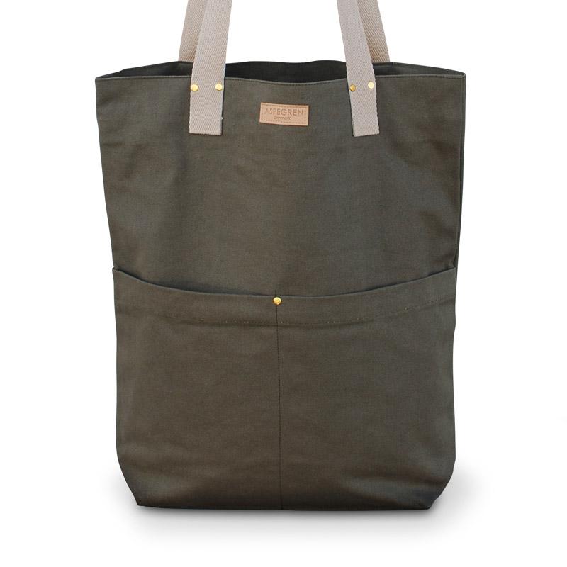 Einkaufstaschen Leinwand Aspegren Mano Olive