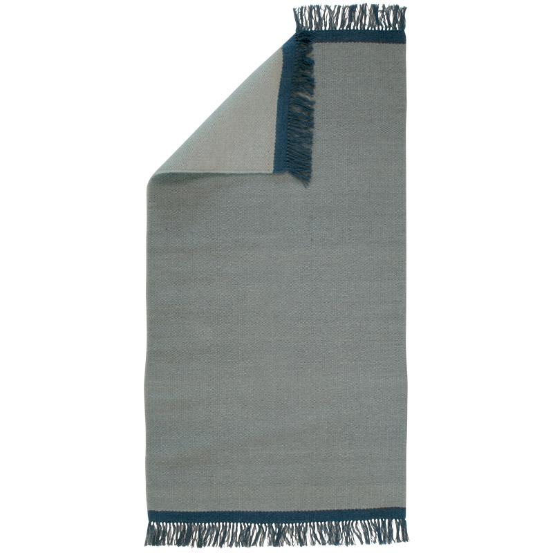 Rug Kelim Design Aspegren Solid Blue 70x130