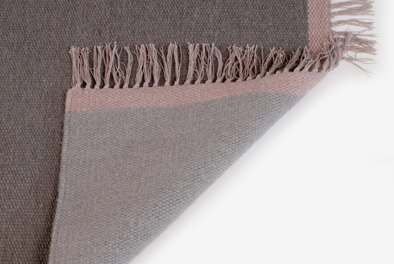 Teppiche Design Aspegren Kelim Solid Gray 70x130