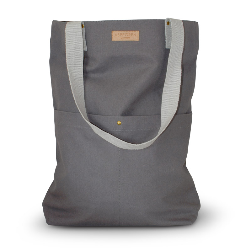 Taske Kanvas Design Aspegren Mano Dark Gray