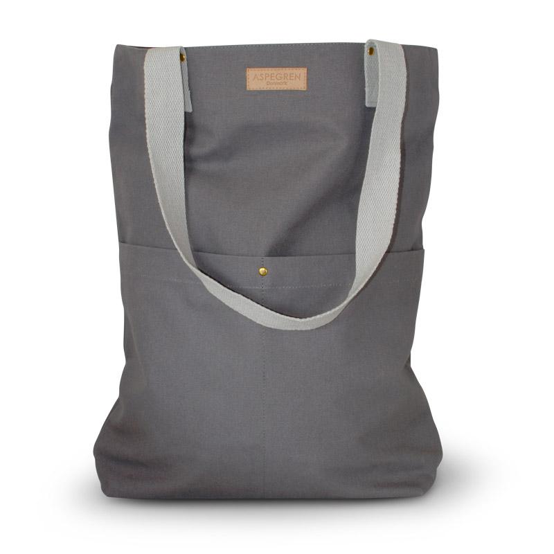 Einkaufstaschen Leinwand Design Aspegren Mano Dark Gray