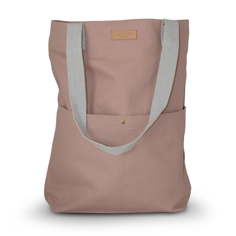 Einkaufstaschen Leinwand Design Aspegren Mano Mauve