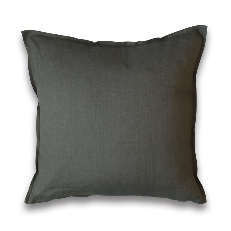 Kissen Leinen Design Aspegren Dark Gray