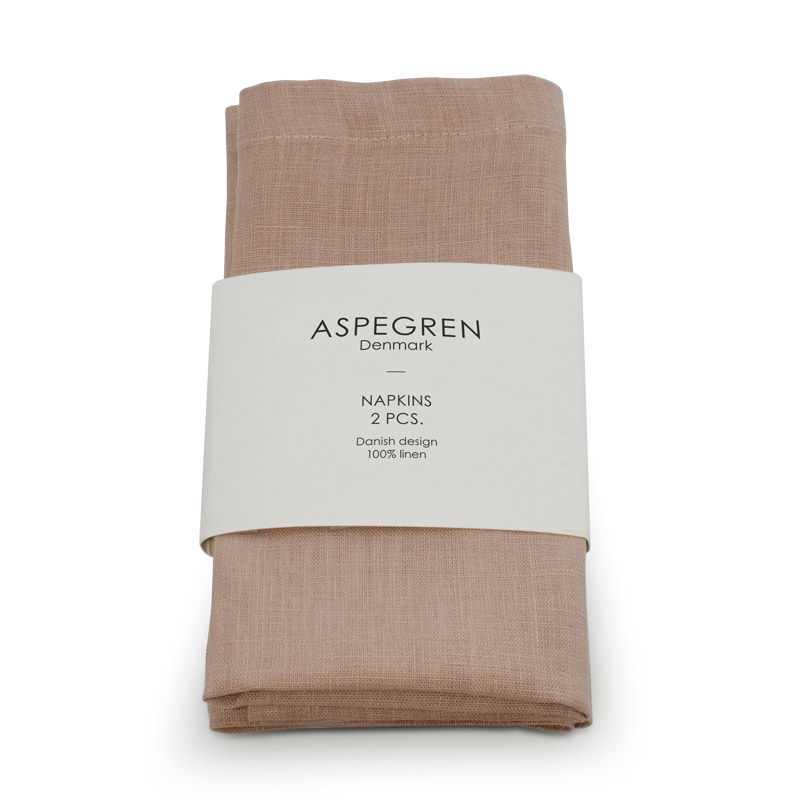 Serviet Hør Design Aspegren Ash Rose
