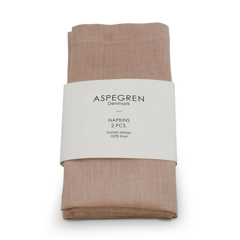 Leinen Servietten Design Aspegren Ash Rose