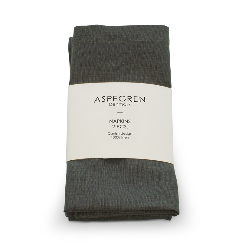 Serviet Hør Design Aspegren Dark Gray