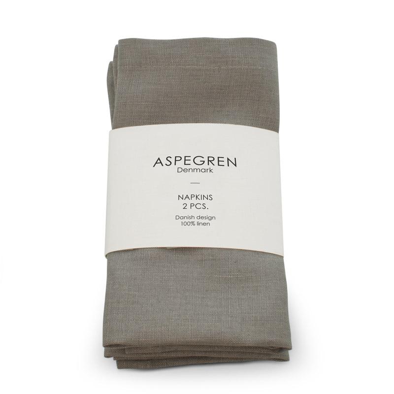 Leinen Servietten Design Aspegren Light Gray