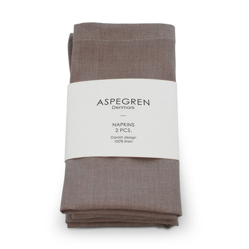 Napkin Linen Design Aspegren Rose Brown