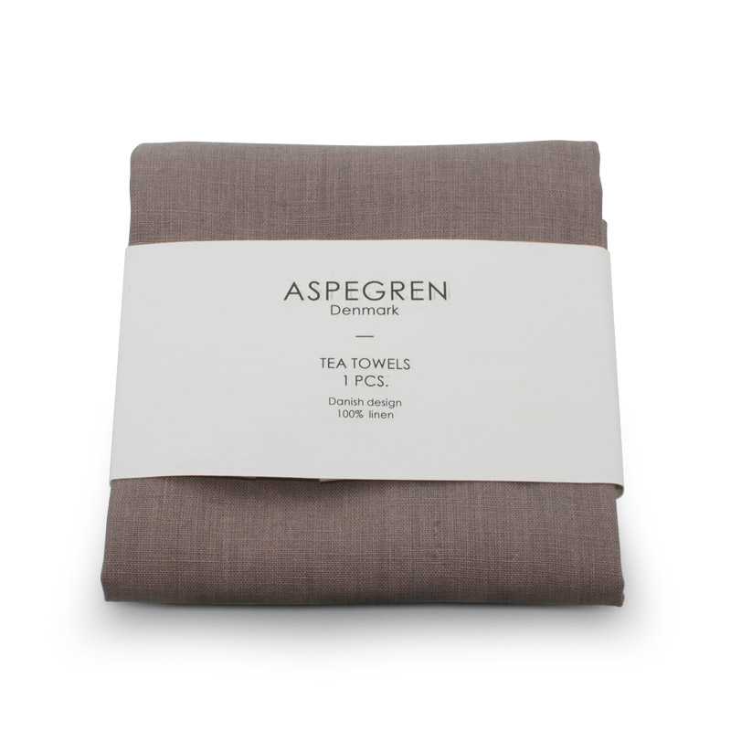 Viskestykker Hør Design Aspegren Rose Brown
