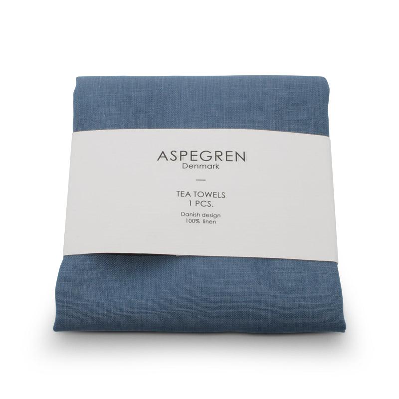 Viskestykker Hør Design Aspegren Stone Blue