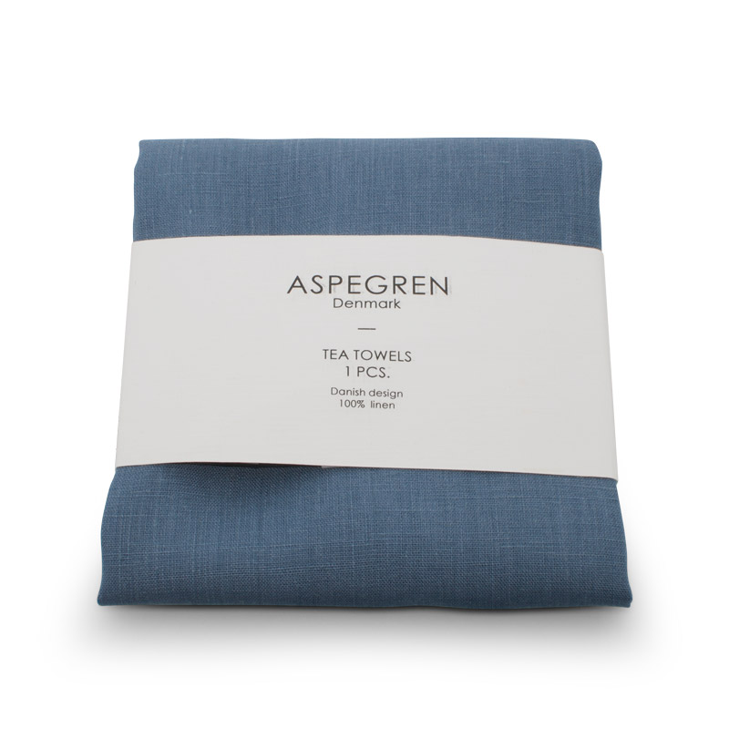 Tea Towel Linen Design Aspegren Stone Blue